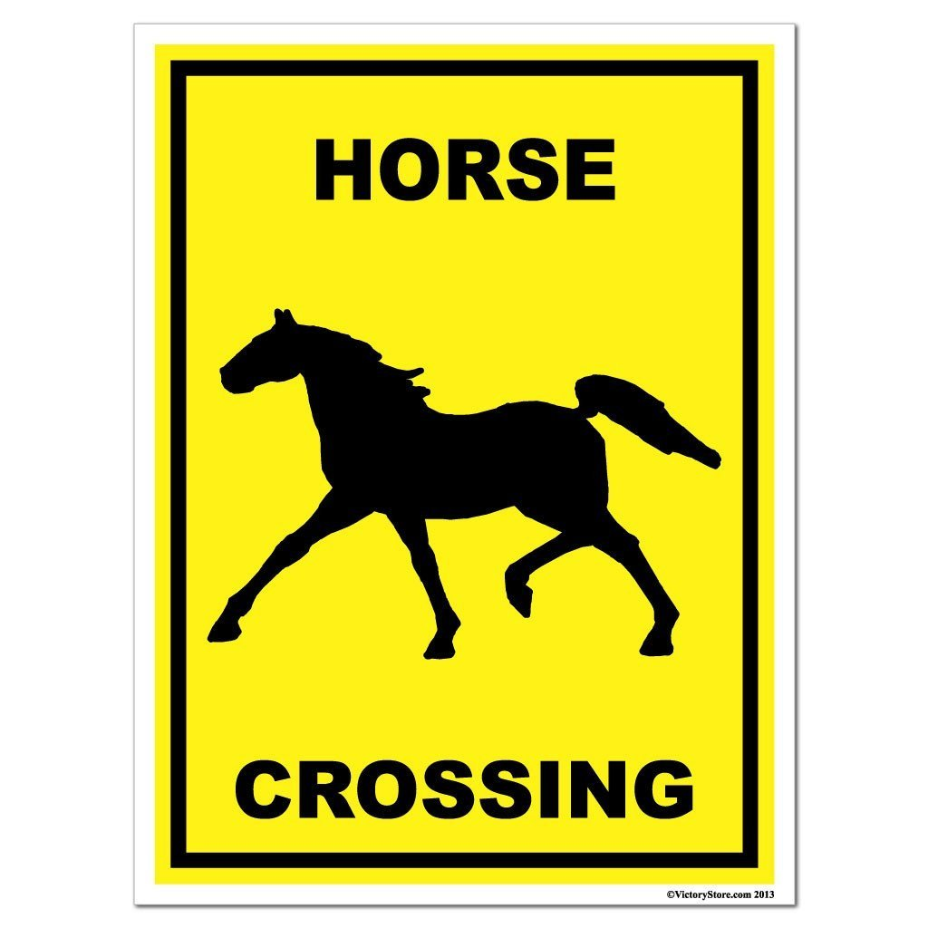 A square horse crossing sign