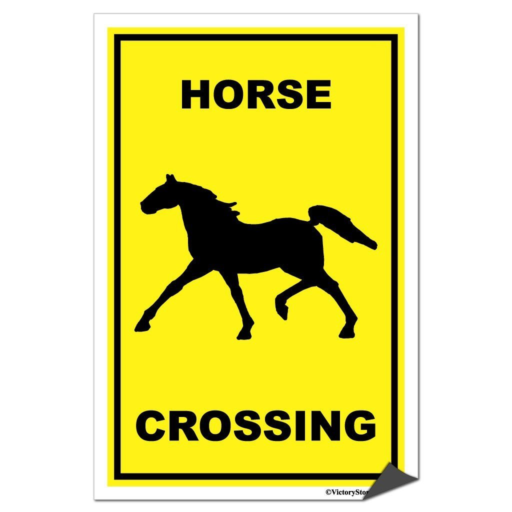 A horse crossing sticker