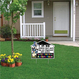 House Shaped Autism Awareness Corrugated Plastic Sign with EZ Stakes