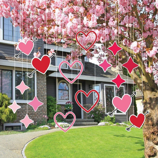 Valentine's Day Yard Decoration - Hanging - Hearts and Sparkles