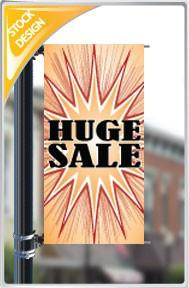"18""x36"" Huge Sale Pole Banner FREE SHIPPING"