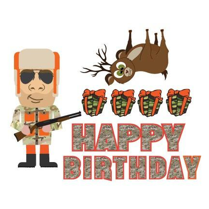 Birthday Yard Cards - Hunter Camo Happy Birthday Yard Decoration - FREE SHIPPING