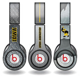 University of Iowa - Set of 3 Metal Patterns - Skins for Beats Solo HD