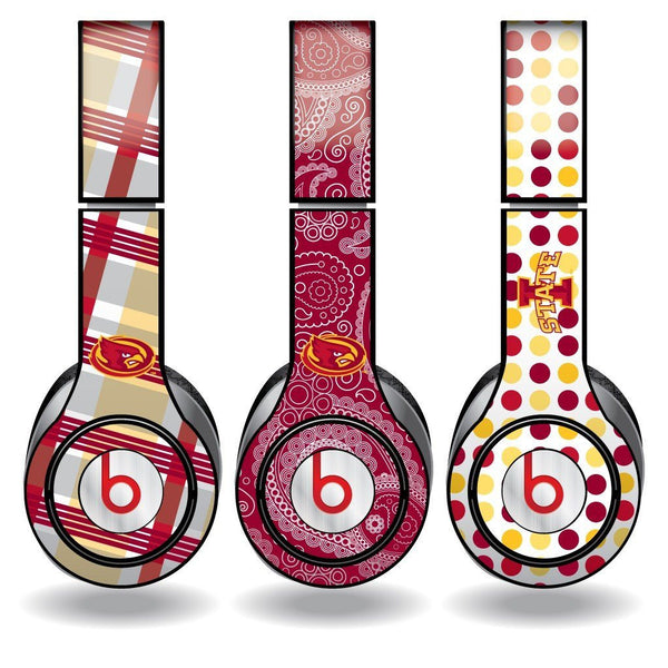"Iowa State Skins for Beats Solo HD Headphones "" Set of 3 Patterns"