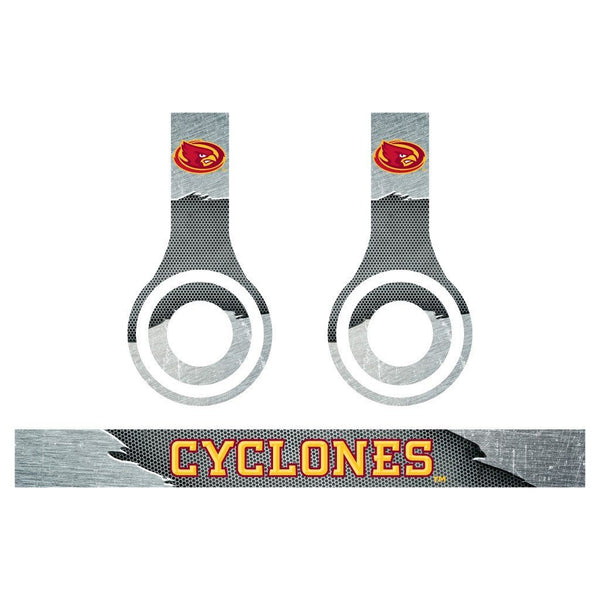 Iowa State Skins for Beats Solo HD Headphones - Set of 3 Metal