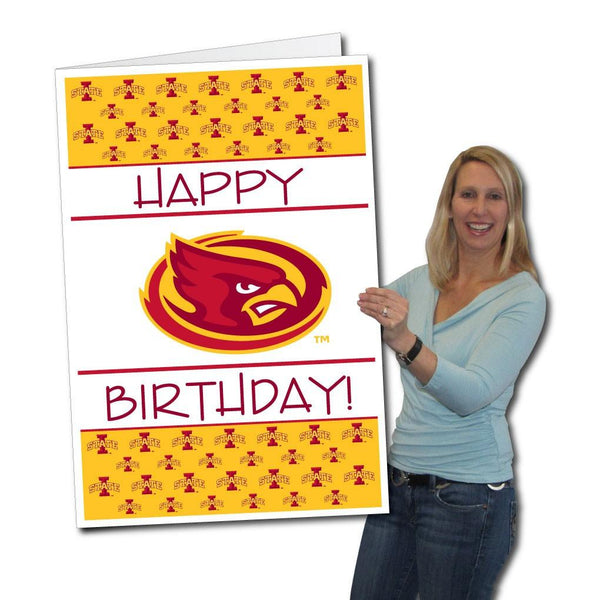 Iowa State University 2'x3' Giant Birthday Greeting Card Plus Yard