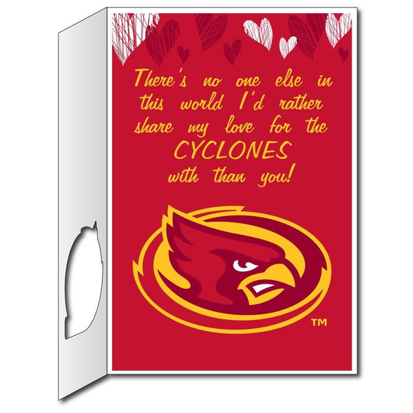 Iowa State University 2'x3' Huge Valentine's Day Card Plus a Bonus Yard Sign!