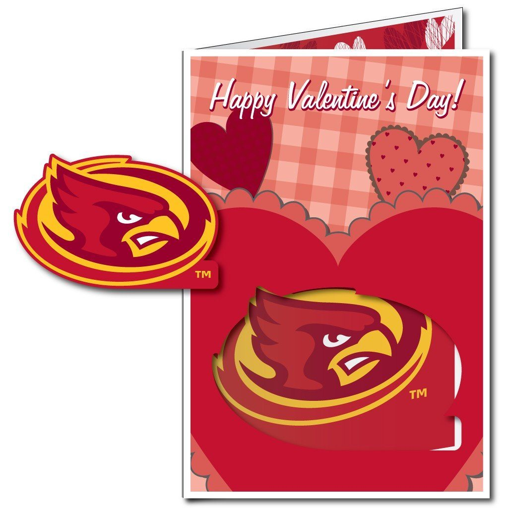 Iowa State University 2'x3' Huge Valentine's Day Card Plus a Bonus Yard Sign! FREE SHIPPING