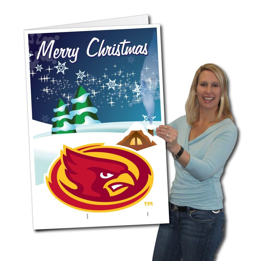 Iowa State University 2'x3' Giant Holiday Greeting Card Plus a Bonus Yard Sign! FREE SHIPPING