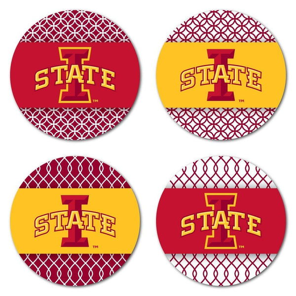Iowa State University Coaster Set - Patterned Design - Set of 4