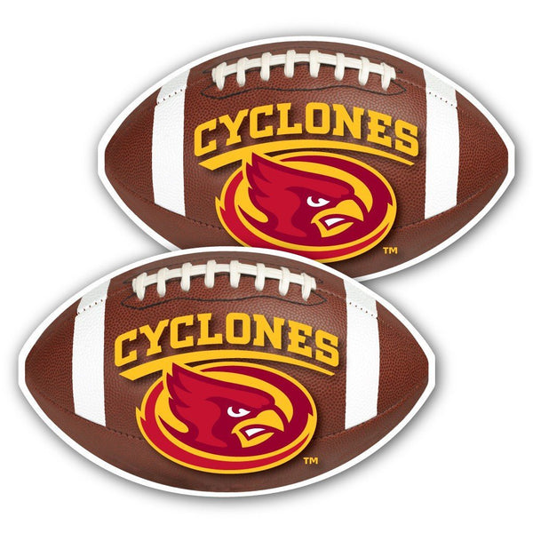 Iowa State University - Window Decal (Set of 2) - Football