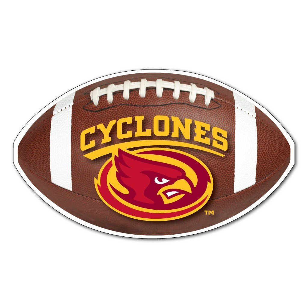 Iowa State - Football Shaped Magnet