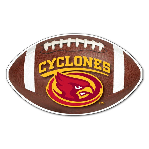 "Iowa State "" Football Shaped Magnet"