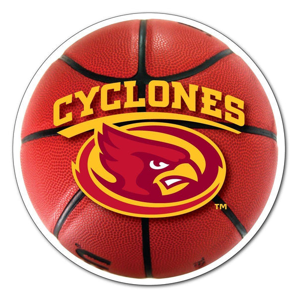 "Iowa State "" Basketball Shaped Magnet"