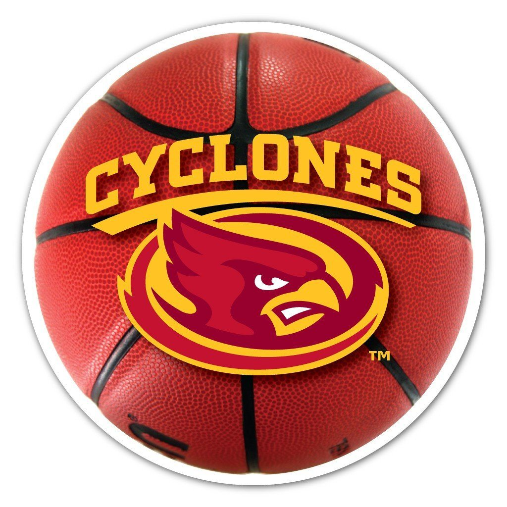 Iowa State University Basketball Shaped Plastic Yard Sign - FREE SHIPPING