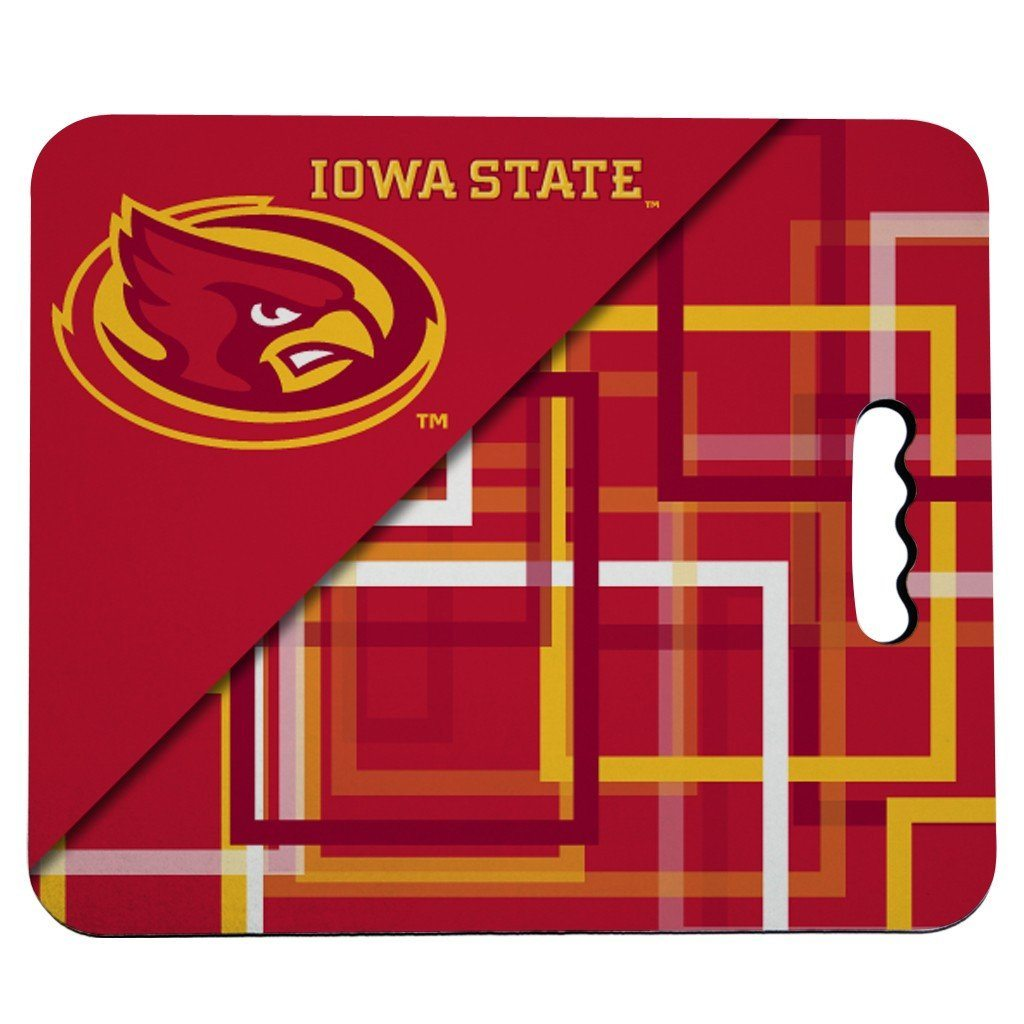 Iowa State University Stadium Seat Cushion - Squares Design