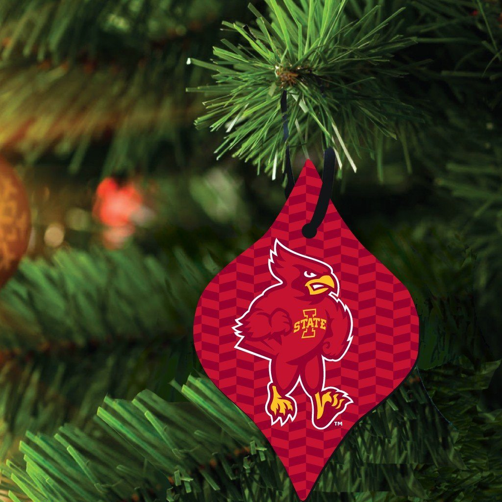 Iowa State University Ornament - Set of 3 Shapes - FREE SHIPPING