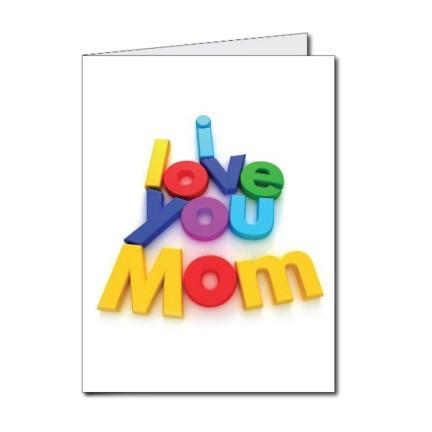 "Mother's Day ""I Love You Mom"" Giant Card - Stock Design - Free Shipping"