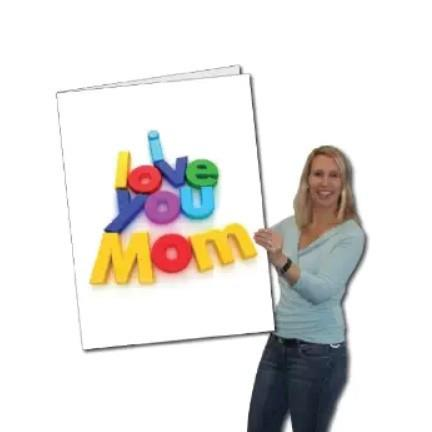 "Mother's Day ""I Love You Mom"" Giant Card - Free Shipping"