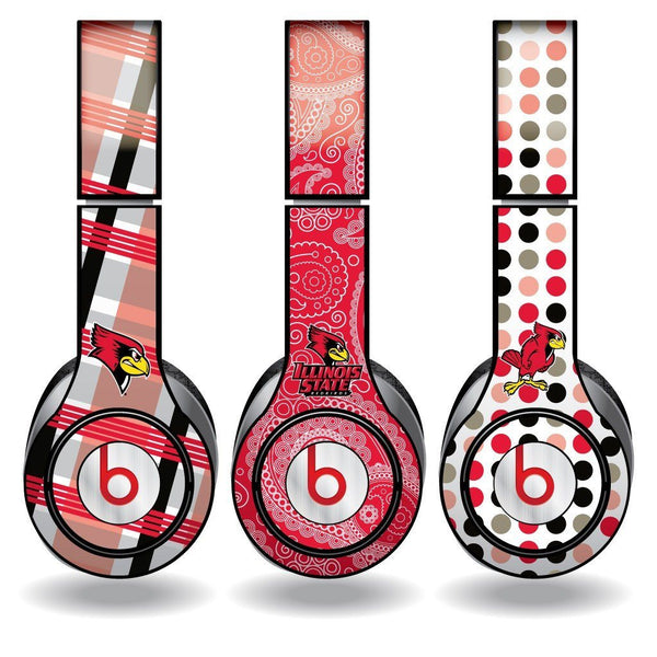 "Illinois State Skins for Beats Solo HD Headphones "" Set of 3 Patterns"
