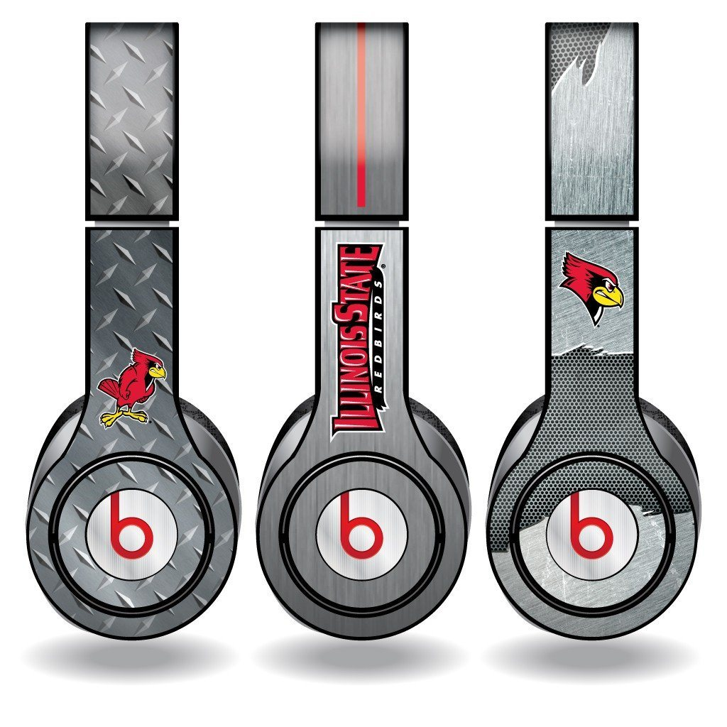 Illinois State Skins for Beats Solo HD Headphones Set of 3 Metal FREE SHIPPING