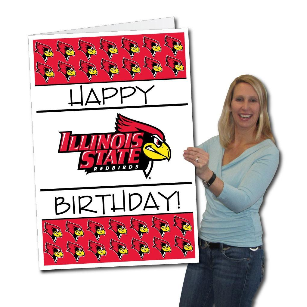 Illinois State University 2'x3' Giant 2-in-1 Birthday Card and Yard Sign! - FREE SHIPPING