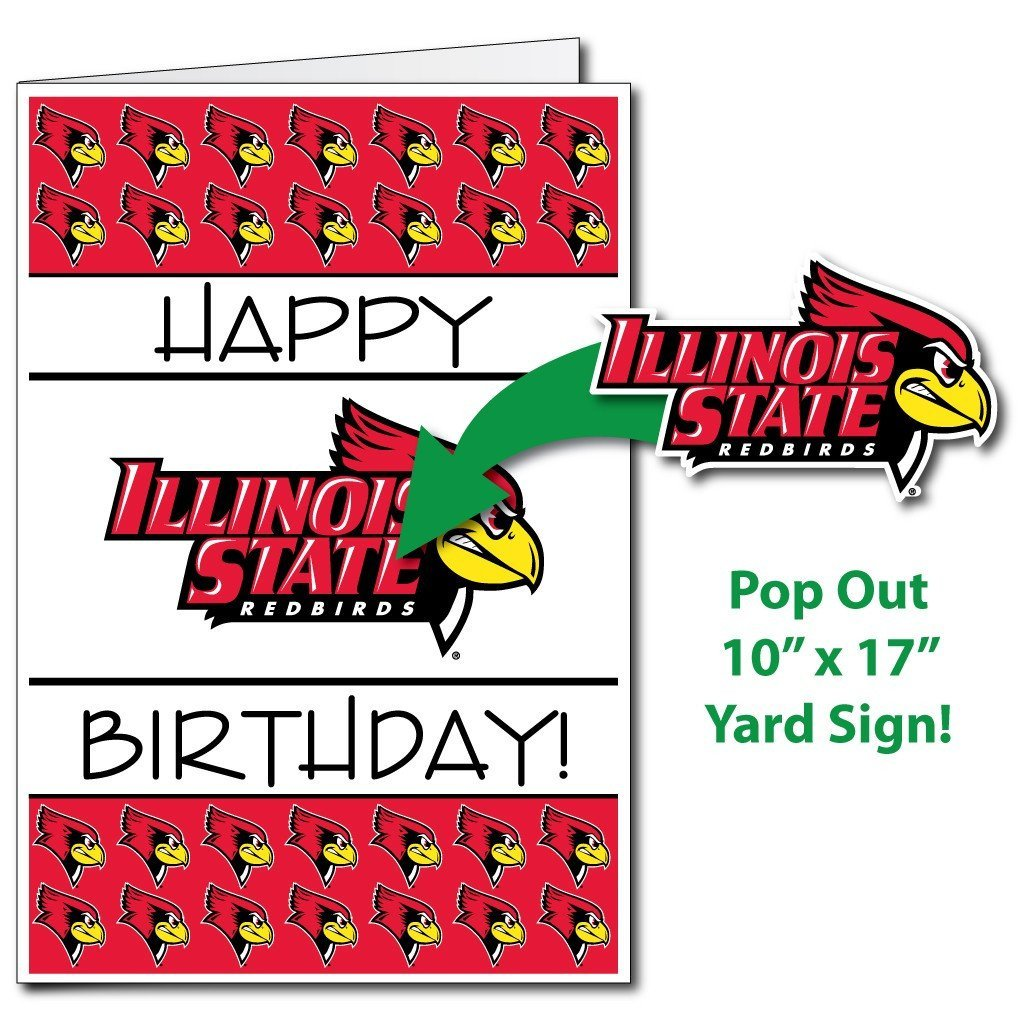 Illinois State University 2'x3' Giant 2-in-1 Birthday Card and Yard Sign!