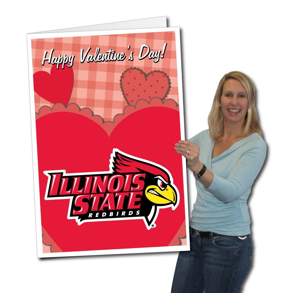 A Giant Illinois State University Valentines day card
