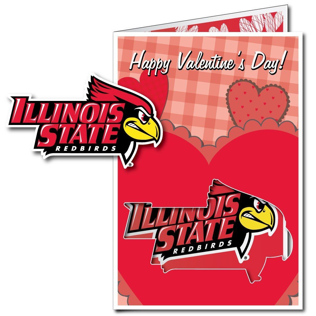 Illinois State University 2'x3' Giant 2-in-1 Valentine's Day Card and Yard Sign! FREE SHIPPING