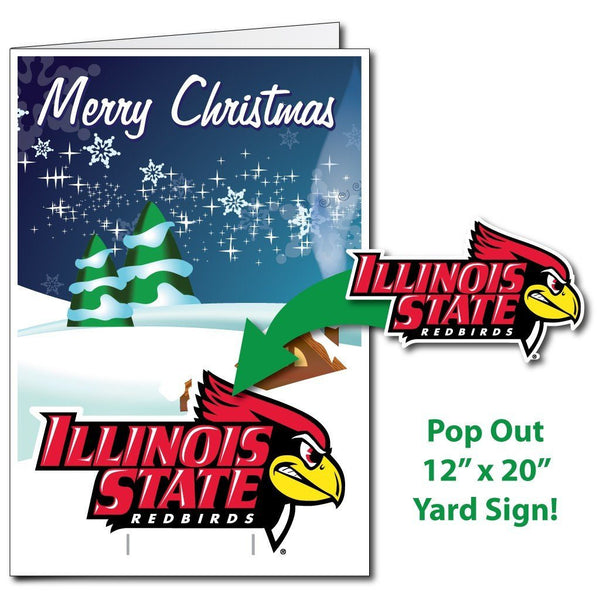 Illinois State University 2'x3' Giant 2-in-1 Holiday Greeting Card and