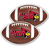 "Illinois State University Football Window Decal "" Set of 2"