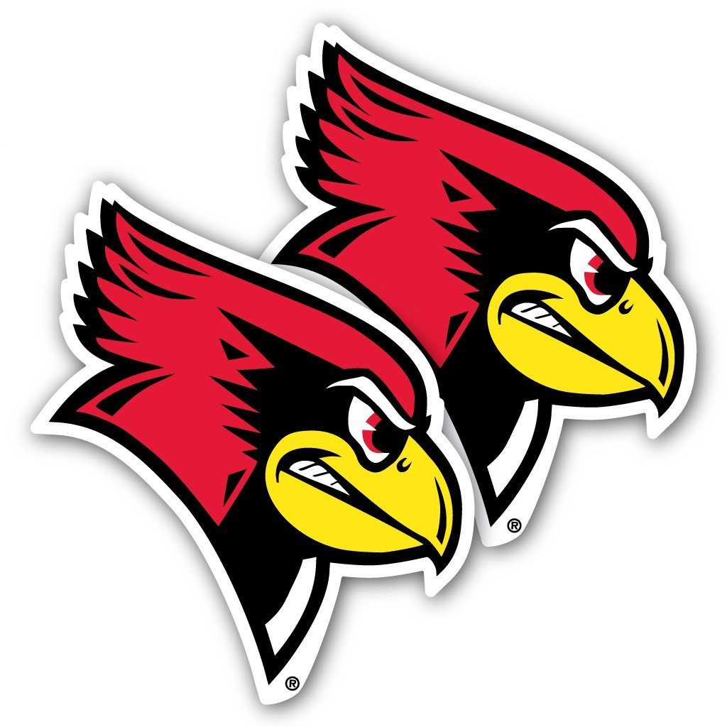 "Illinois State University Redbirds Window Decal "" Set of 2"