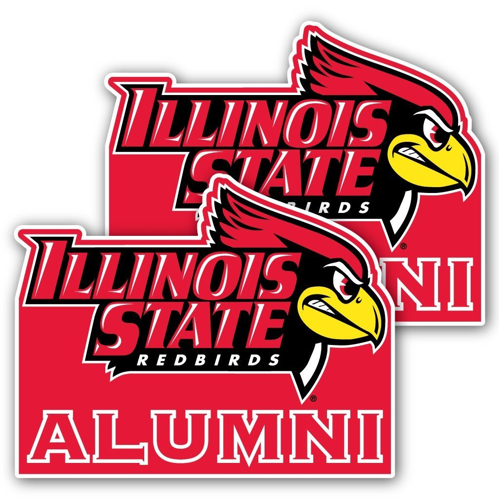 "Illinois State University Alumni Window Decal "" Set of 2"