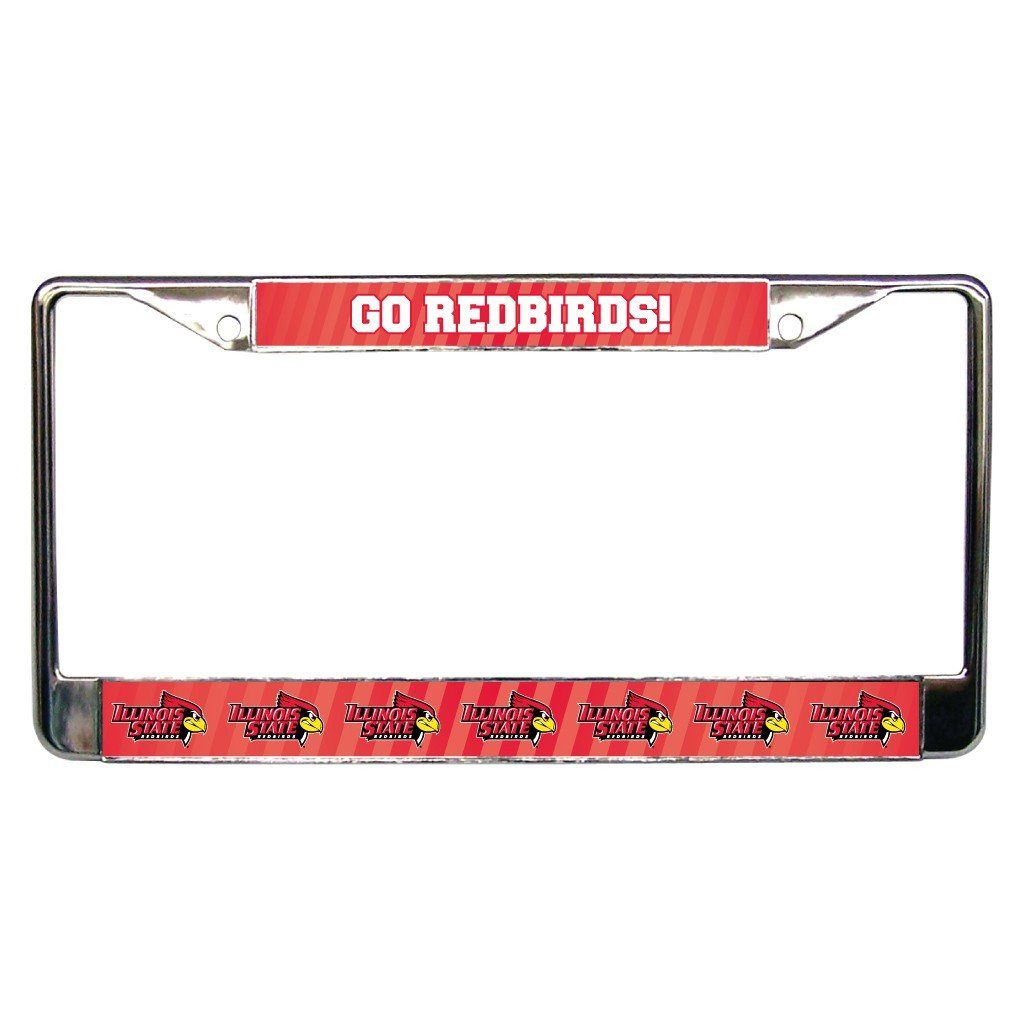 Illinois State University Go Redbirds! License Plate Frame FREE SHIPPING