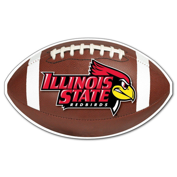"Illinois State "" Football Shaped Magnet"