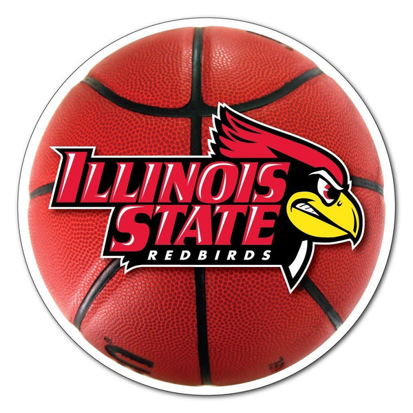 "Illinois State "" Basketball Shaped Magnet"