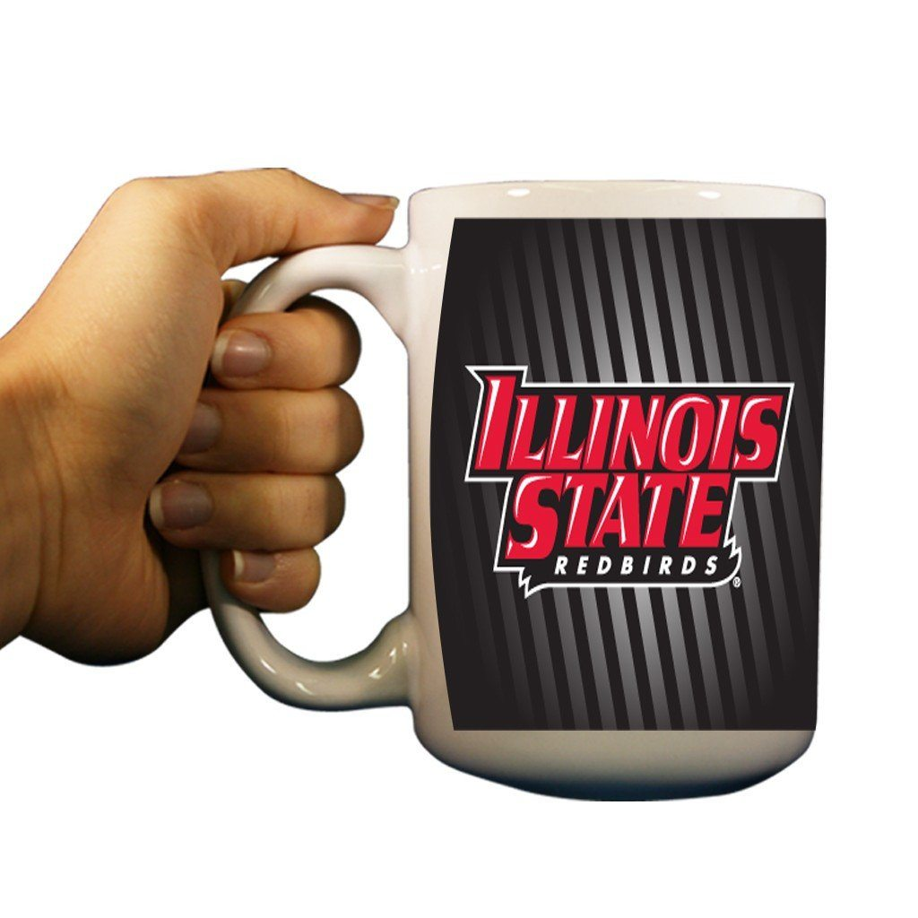 Illinois State University Black Stripes 15oz Coffee Mug