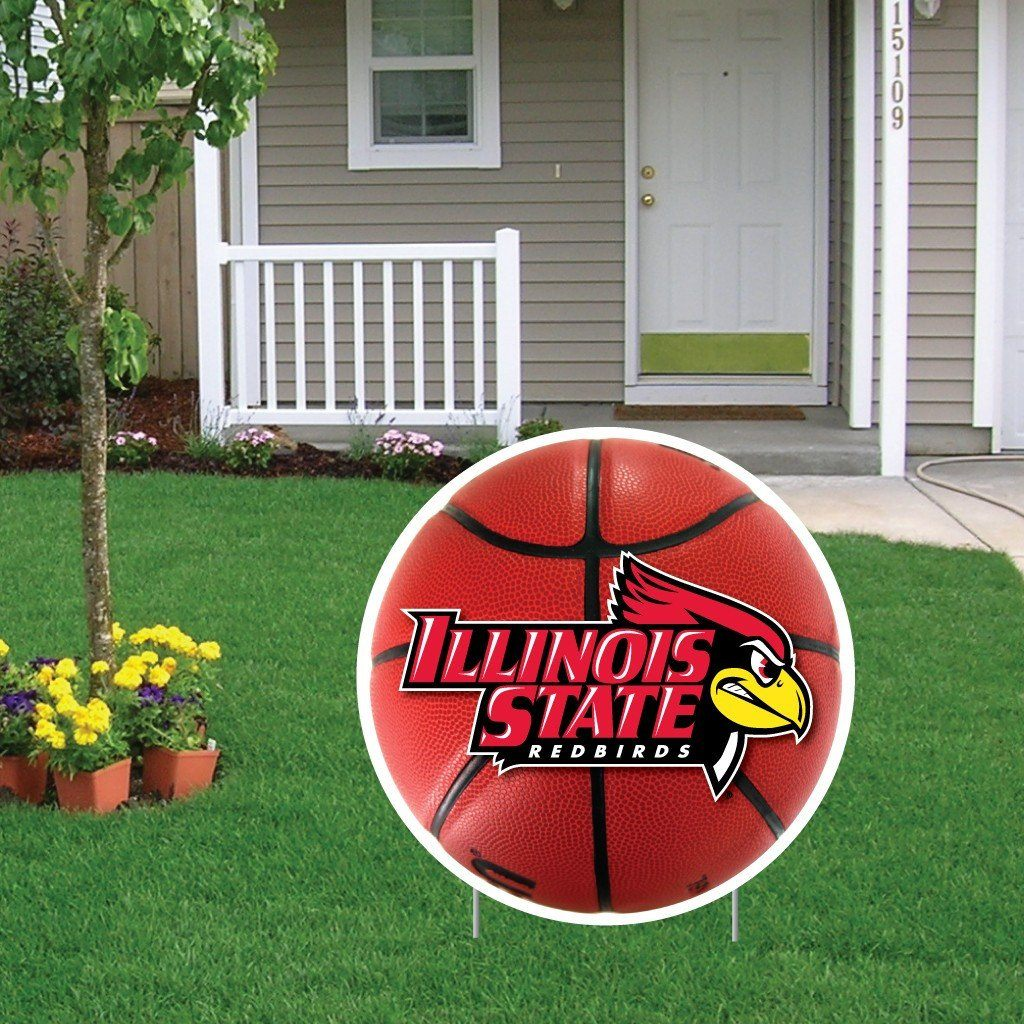 Illinois State University 2'x2' Basketball Shaped Yard Sign - FREE SHIPPING