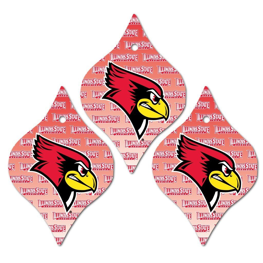 Illinois State University Aluminum Tapered Shaped Ornament Set of 3 - FREE SHIPPING