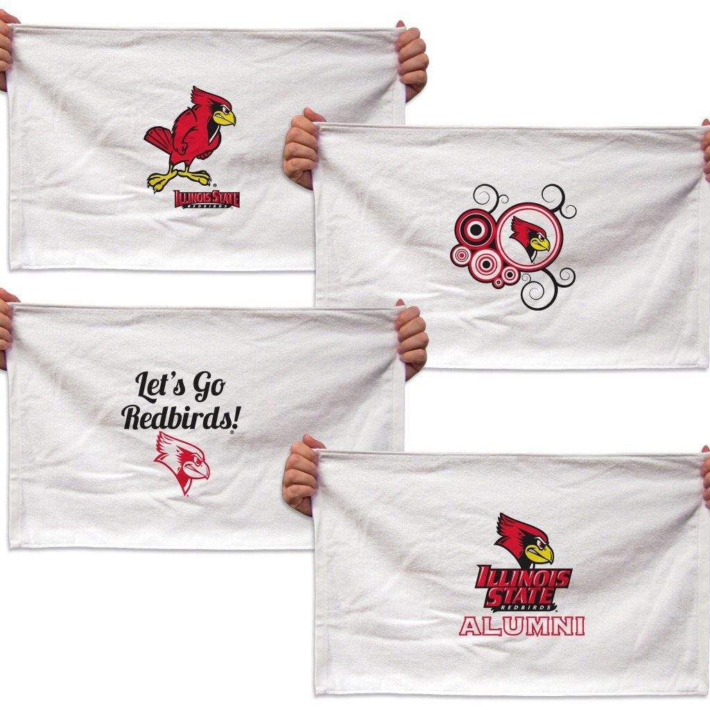 "Illinois State University Rally Towel "" Set of 4 Different Designs"