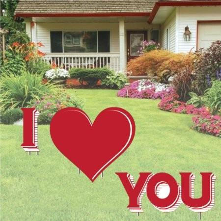 Valentine's Day Yard Decoration - I Love You 4'x4' - FREE SHIPPING