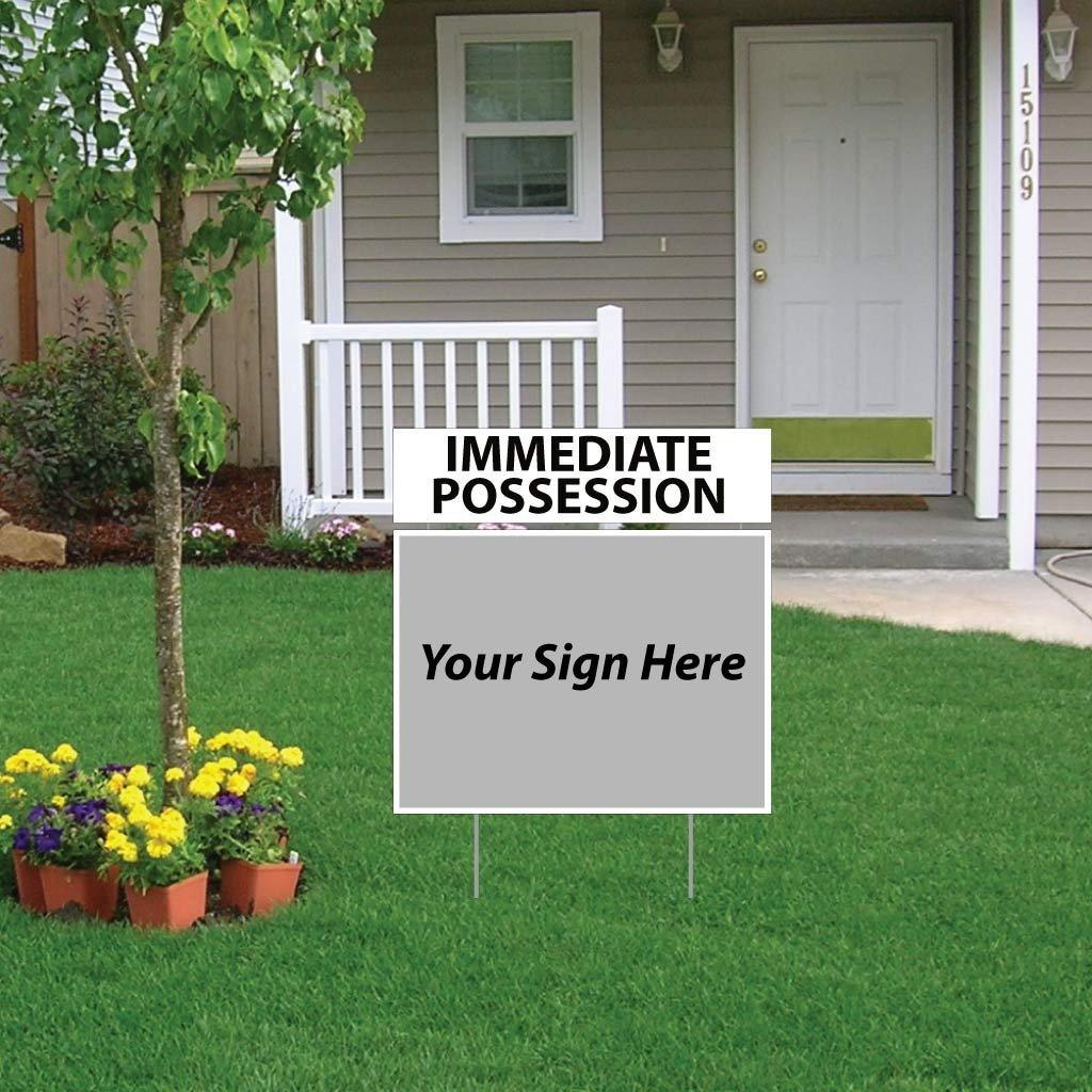 Immediate Possession Real Estate Yard Sign Rider Set - FREE SHIPPING