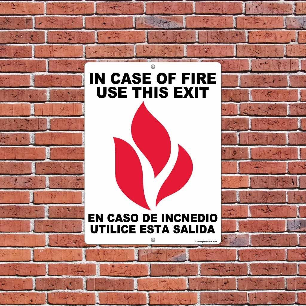 In Case of Fire Use This Exit Sign or Sticker - #2