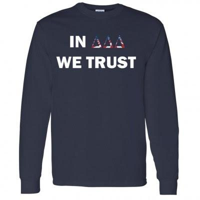Tri Delta 'In Tri Delta We Trust' Long Sleeve T-Shirt - FREE SHIPPING