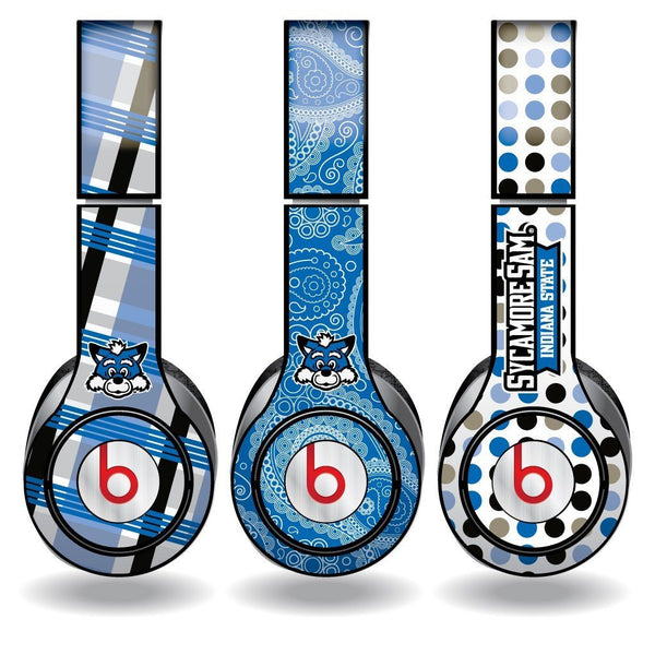 Indiana State University Set of 3 Patterns Skins for Beats Solo HD