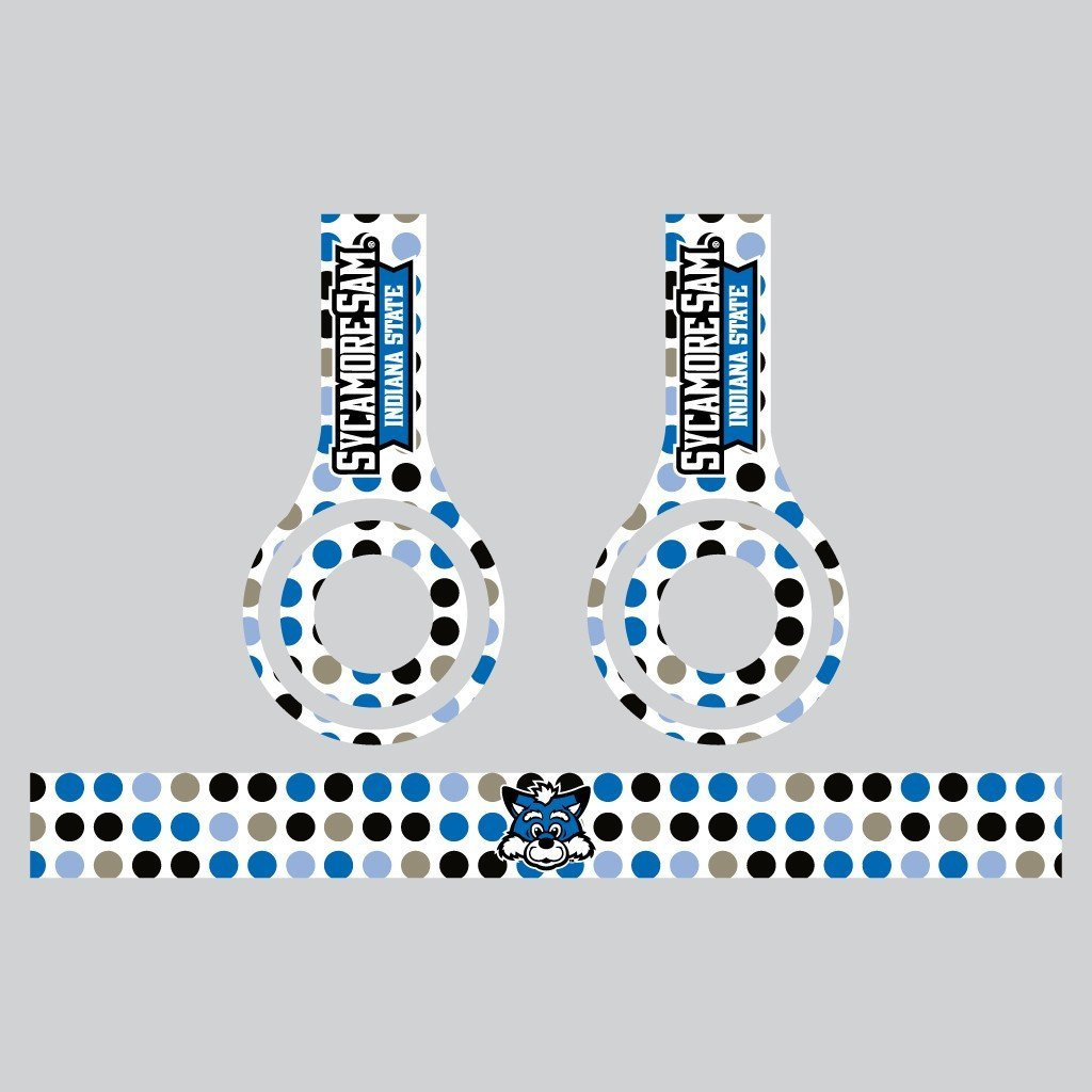 Indiana State University Set of 3 Patterns Skins for Beats Solo HD FREE SHIPPING
