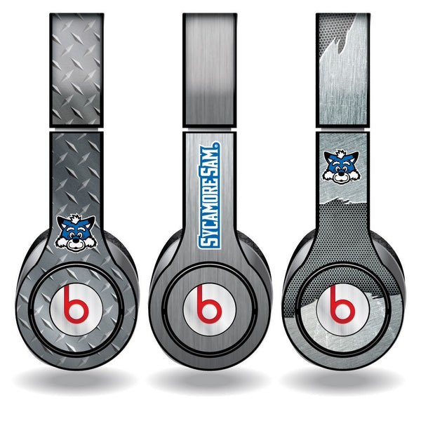 Indiana State University Set of 3 Metal Print Skins for Beats Solo HD