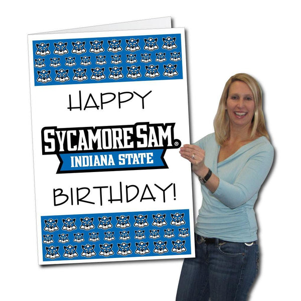 Indiana State University 2'x3' Giant Birthday Greeting Card Plus Yard