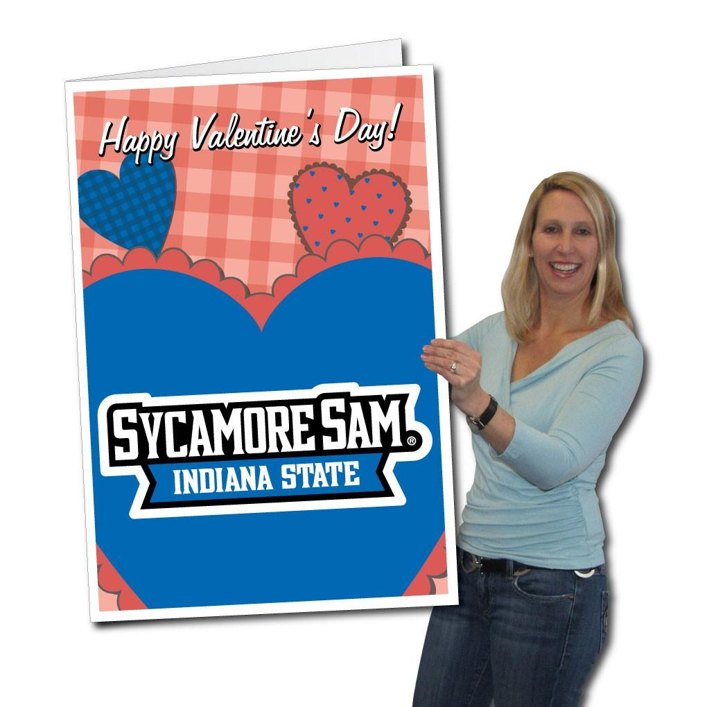 Indiana State University 2'x3' Huge Valentine's Day Card Plus a Bonus Yard Sign! FREE SHIPPING