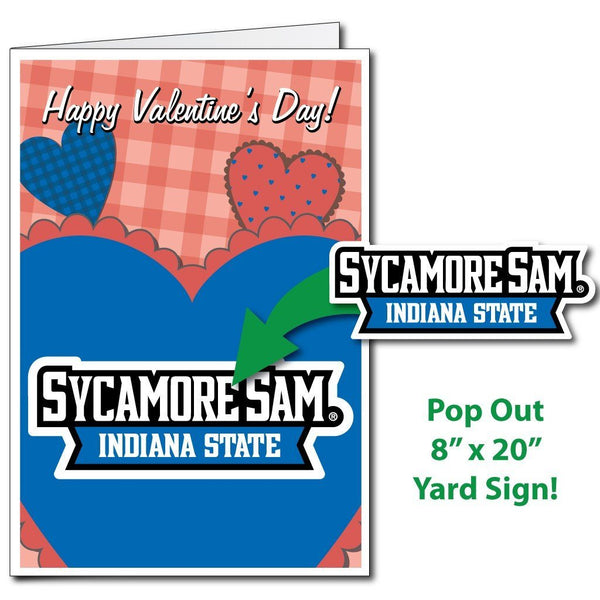 A Indiana State University Valentines day card